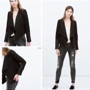 Zara, open cascading blazer, M.
